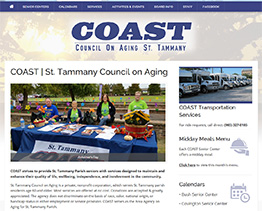 Latest Website Client for COAST Seniors
