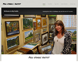 Latest Website Client for Artist Peg Usner